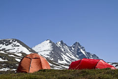 Camping in Jotunheimen Royalty Free Stock Photography