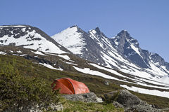 Camping in Jotunheimen Stock Photos