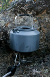 Camping kettle Stock Image