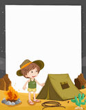Camping kid Stock Image
