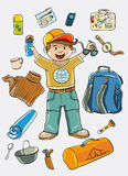 Camping kit Royalty Free Stock Images