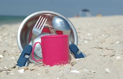 Camping kitchenware Stock Photo