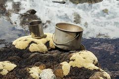 Camping kitchenware Royalty Free Stock Photography