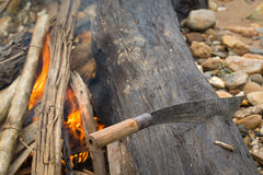 Camping Knife Royalty Free Stock Photography