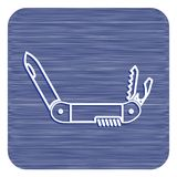 Camping knife icon. Vector illustration Royalty Free Stock Images