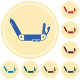 Camping knife icon. Vector illustration Stock Images