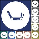 Camping knife icon. Vector illustration Stock Photos