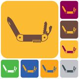 Camping knife icon. Vector illustration Stock Photo