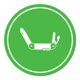 Camping knife icon. Vector illustration Stock Image