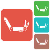 Camping knife icon Stock Photo