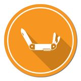 Camping knife icon Stock Images