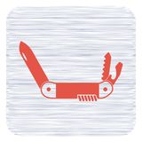 Camping knife icon. Vector illustration Royalty Free Stock Photo