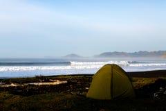 Camping on Kodiak Island Alaska. An image from a surf trip to Alaska Stock Photos