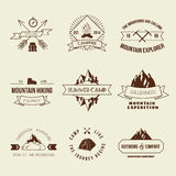 Camping labels set Royalty Free Stock Photography