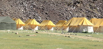 Camping in Ladakh. Royalty Free Stock Photo