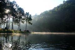 Camping by the lake, Pang Oung, Thailand Royalty Free Stock Photo