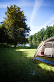 Camping by the lake Royalty Free Stock Photography