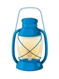 Camping lamp. Illustratino of a lantern on white Stock Photo