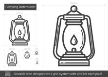 Camping lantern line icon. Royalty Free Stock Photography