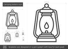 Camping Lantern Line Icon Vector Isolated On White Background