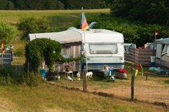 Camping life. Camping with caravans in Germany Stock Photography