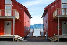 Camping of Lofoten islands. Royalty Free Stock Photos