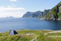 Camping in Lofoten Islands, Norway, Europe Stock Images