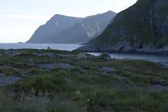 Camping in lofoten Stock Photos
