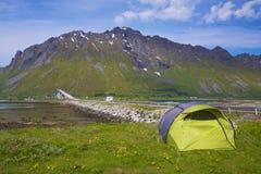 Camping on Lofoten Royalty Free Stock Images