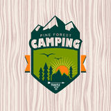 Camping. Logo, labels and badges. Travel emblems Royalty Free Stock Photography