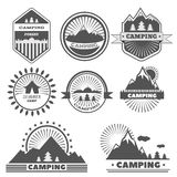 Camping logo labels badges travel emblems eps 10  Royalty Free Stock Images