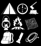 Camping materials Stock Photography