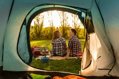 Camping mornings Royalty Free Stock Photography