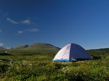 Camping in mountain Stock Images