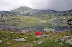 Camping on the mountain Stock Photos