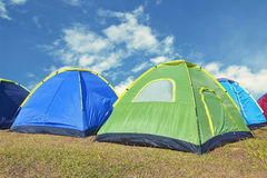 Camping on the mountain. With blue sky Royalty Free Stock Photo