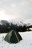 Camping in Mountain landscape Royalty Free Stock Photo