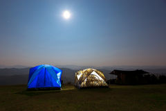 Camping Mountain Landscape Stars Stock Image