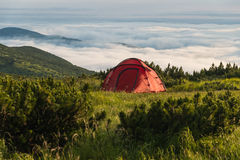 Camping in mountain Royalty Free Stock Image
