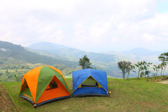 Camping on mountain Royalty Free Stock Image