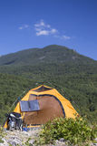 Camping on the mountain top. Royalty Free Stock Photo