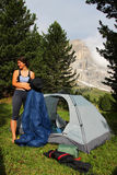Camping in the mountains Royalty Free Stock Photo