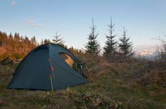 Camping in the mountains Stock Photography