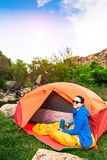Camping in the mountains. Royalty Free Stock Photos