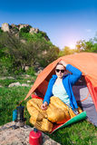 Camping in the mountains. Stock Images