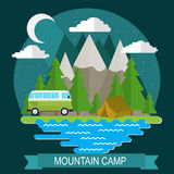 Camping in the mountains. Stock Image