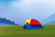 Camping in the mountains Royalty Free Stock Image