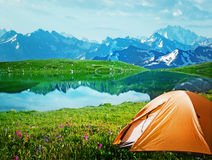 Camping in mountains Royalty Free Stock Photography