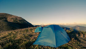 Camping in mountains Royalty Free Stock Photos