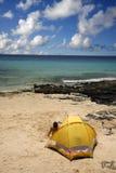 camping na plaży Zdjęcia Royalty Free